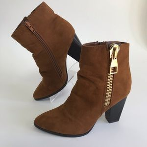 EXPRESS suede and wool lined heeled boots